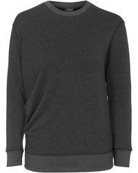 Topshop | Tuck Detail Sweatshirt | Lyst
