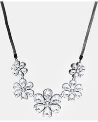 Lipsy - Stone Flower Necklace - Lyst