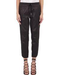 Isabel Marant Stretch-leather Daniels Track Pants - Lyst