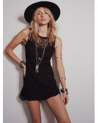 Free People Embroidered Net Shift Dress - Lyst