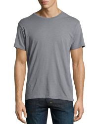 AG Adriano Goldschmied Chainstitched Crew-Neck Tee - Lyst