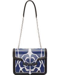 Alexander McQueen Blue Matisse Print Heroine Satchel - Lyst