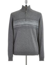 Calvin Klein Gray Band-accented Pullover - Lyst