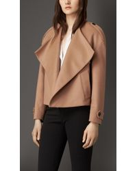 Burberry Box-Fit Virgin Wool Cashmere Jacket - Lyst