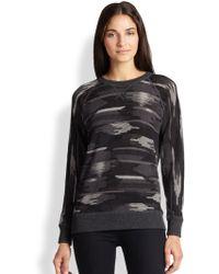 Cardigan | Dean Digital Ikat-Patterned Wool Sweater | Lyst