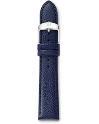 Michele 18Mm Leather Watch Strap - Lyst