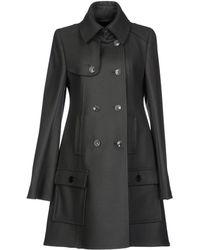 Patrizia Pepe Gray Coat - Lyst