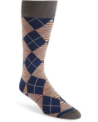 Hook + Albert - 'rayner' Stripe Argyle Socks - Lyst