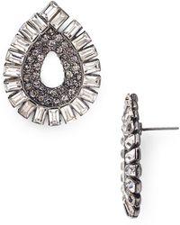 Aqua - Jill Stud Earrings - Lyst
