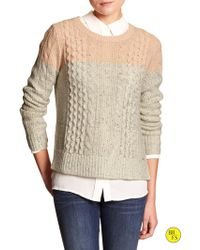 Banana Republic Factory Cable-Knit Pullover - Lyst