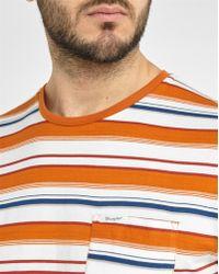 Wrangler | Orange Large Stripes Round-neck T-shirt | Lyst