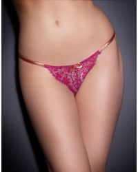 Agent Provocateur Red Samarra Thong - Lyst