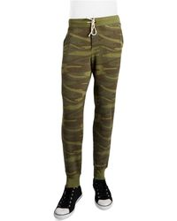 Alternative Apparel Green Camouflage Sweatpants - Lyst