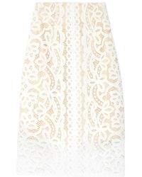 4f56ff184f Lover - Poppy Macramé-lace Pencil Skirt - Lyst