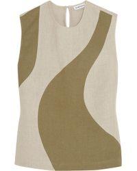 Alexander Lewis - Toleda Two-tone Linen Top - Lyst