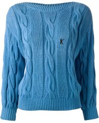 Krizia Vintage Cable Knit Sweater - Lyst