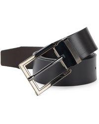 Tumi - Ballistic Reversible Leather Belt - Lyst