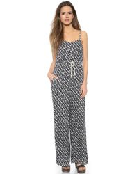 MINKPINK Ditty Floral Jumpsuit - Black - Lyst