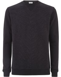 Saint Laurent Bonded Tiger Print Sweater black - Lyst