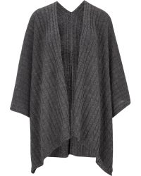 Cc | Grey Cable Knit Wrap | Lyst