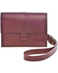 Danielle Foster Charlie Box Burgundy Bag - Lyst