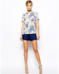 Oasis Floral Crepe Top - Lyst