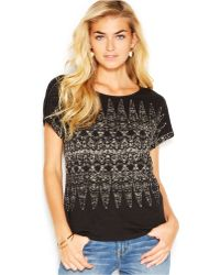 Lucky Brand Jeans Lucky Brand Printed Tee - Lyst