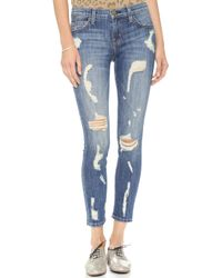 Current/Elliott The Stiletto Jeans Jodie Shredded - Lyst