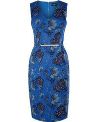 Oasis Oriental Leaf Pencil Dress - Lyst