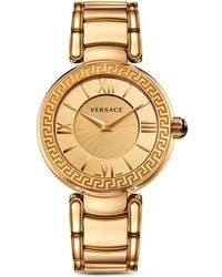 Versace Leda Gold Ion Plated and Stainless Steel Analog Watch 38mm - Lyst