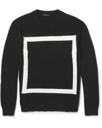 Alexander Wang Knitted Cottonblend Sweater - Lyst