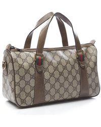 Gucci Pre-Owned Webbed Vintage Shoulder Bag - Lyst