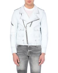 Golden Goose Deluxe Brand Leather Biker Jacket - For Men - Lyst