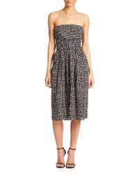 4.collective Strapless Midi Dress - Lyst