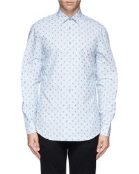 Paul Smith Floral Embroidery Stripe Poplin Shirt - Lyst