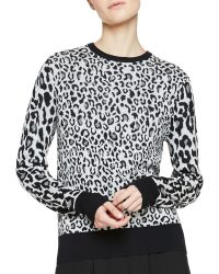 A.L.C. Algoston Animal Print Sweater - Lyst