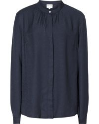 Reiss Yara Fluid Cleancut Blouse - Lyst
