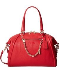 Coach Pebbled Prairie Satchel W Chain - Lyst