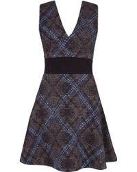 Almari - V-neck And V-back Dress - Lyst