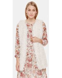 Two By Vince Camuto - Oversized Shaggy Faux Fur Vest - Lyst
