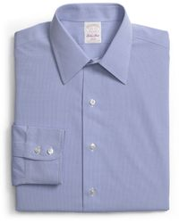 Brooks Brothers Golden Fleece® Non-Iron Regent Fit Mini Check Dress Shirt - Lyst