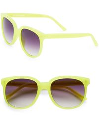 Matthew Williamson 54Mm Neon Wayfarer Sunglasses yellow - Lyst