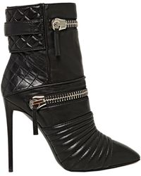 Giuseppe Zanotti 110Mm Quilted Zipped Calf Ankle Boots - Lyst