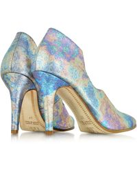 Zoe Lee - Multicolor Marlon Metallic Fabric And Leather Pump - Lyst