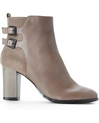 Kenneth Cole Reaction Taupe Crossnight Ankle Boots - Lyst