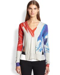 Prabal Gurung Silk & Cotton Combo Sweater - Lyst