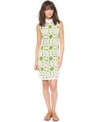 Tory Burch Green Lexi Dress  - Lyst