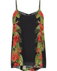 Oasis Palm Safari Placement Cami - Lyst