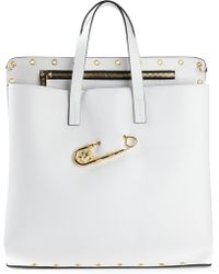 Versus  Safety Pin Perforated Tote - Lyst