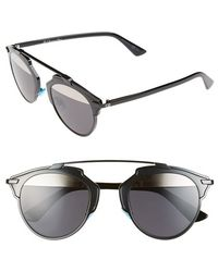 Dior Women'S 'So Real' 48Mm Sunglasses - Shiny Black - Lyst